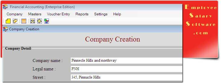 Enterprise Accounting Software screenshot