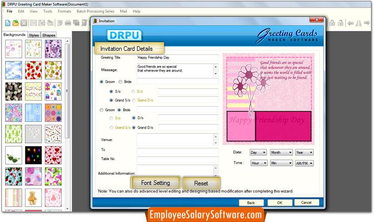 Screenshots of greeting card maker software to learn how to create greeting cards maker software m4hsunfo